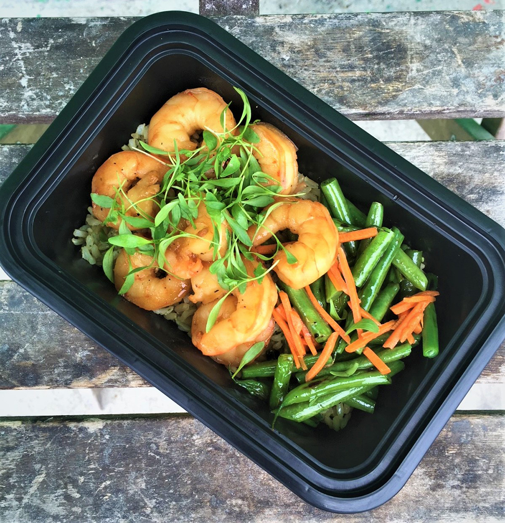 Lunchology Healthy Ocean Lover's Meal Delivery Plan with shrimp